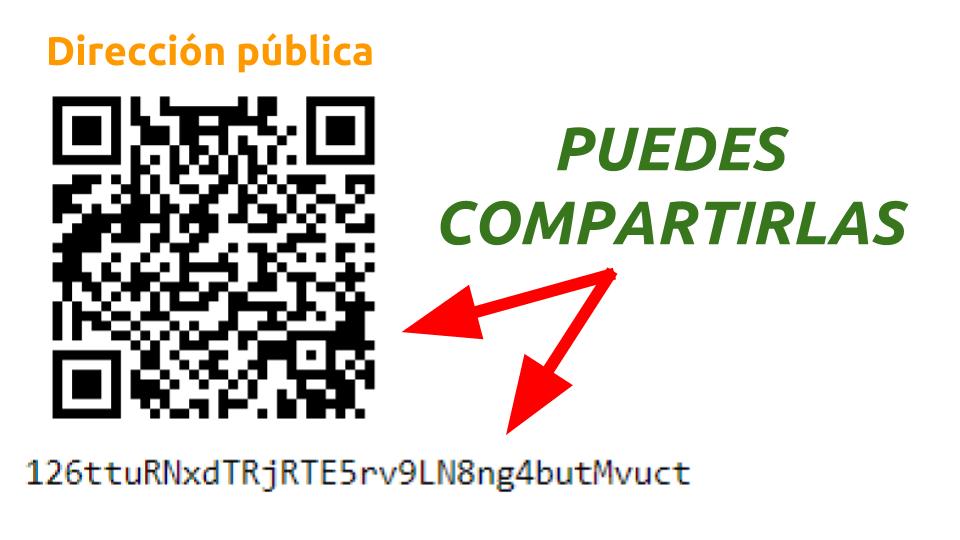 qué es una dirección pública de bitcoin