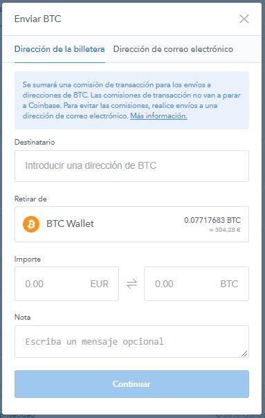 come depositare bitcoin da coinbase a gatehub)