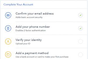 verificar identidad en coinbase