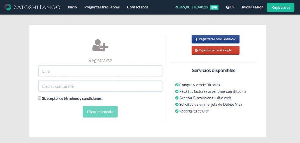 página de registro en satoshitango para comprar ripple en argentina