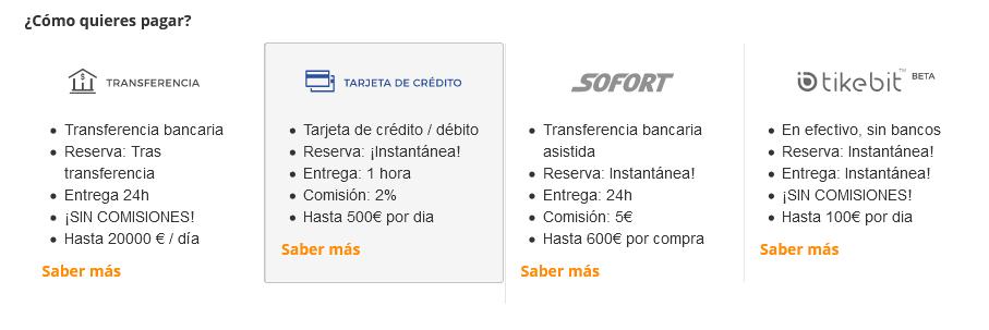 cómo comprar bitcoins en uruguay con tarjeta de crédito o débito