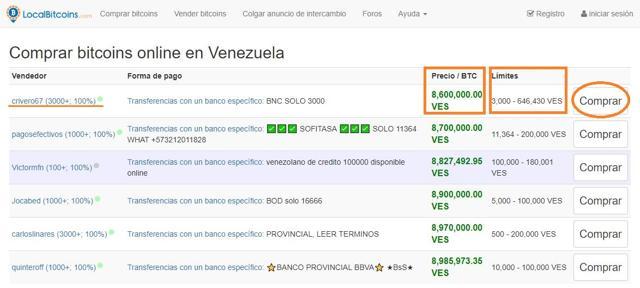 como comprar bitcoins en venezuela en localbitcoins