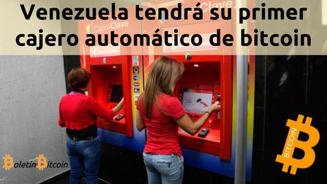 primer cajero automatico bitcoin en caracas venezuela