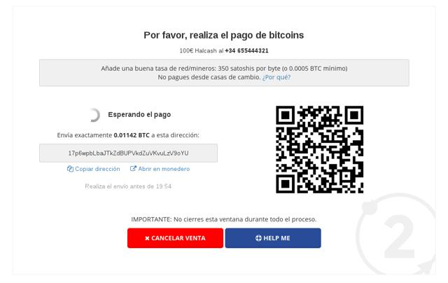 vender bitcoins halcash bit2me