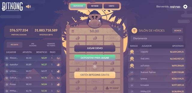 gana bitcoins gratis jugando a bitkong