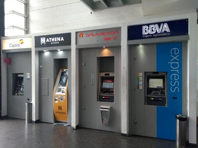 Cajero bitcoin de Athena Bitcoin instalado en Bogotá, Colombia