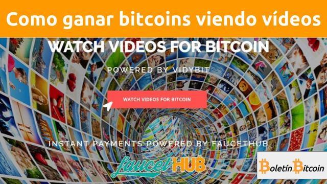 Como ganar bitcoins viendo vídeos