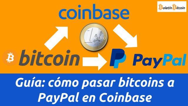 cómo pasar bitcoins a PayPal