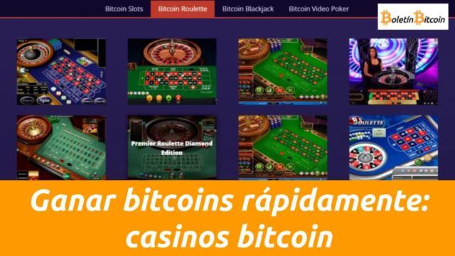 ganar bitcoins rápidamente apostando en casinos bitcoin
