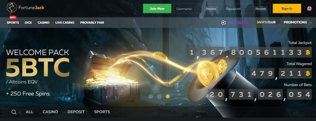 los mejores casinos bitcoin fortune jack