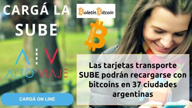 recargar tarjeta sube con bitcoins en argentina