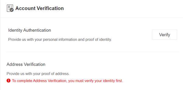 verificación identidad en binance jersey