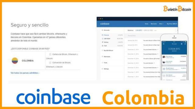 Coinbase Colombia registro, comisiones, formas de pago y opiniones