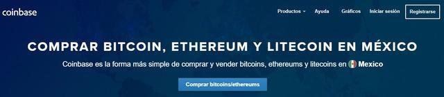 Comprar bitcoins, ethereums y litecoins en Coinbase México
