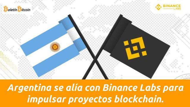 binance labs se alia con argentina