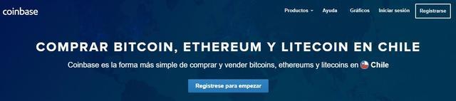 Comprar bitcoins en Coinbase Chile