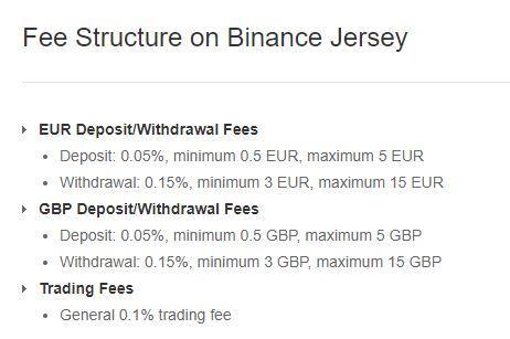 comisiones binance jersey euros y libras