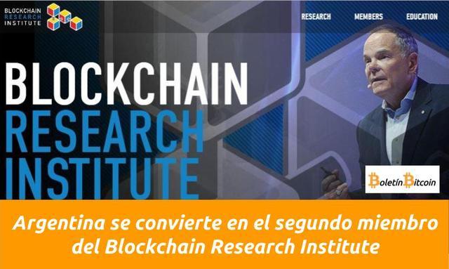 Argentina segundo país miembro blockchain research institute