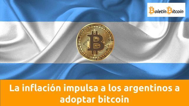 La inflación impulsa a los argentinos a adoptar bitcoin
