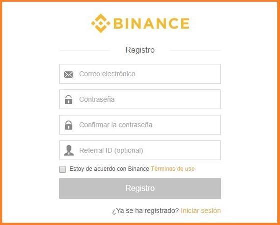 crear cuenta en binance español