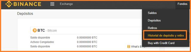 Confirma la recepción de los bitcoins en tu saldo de Binance