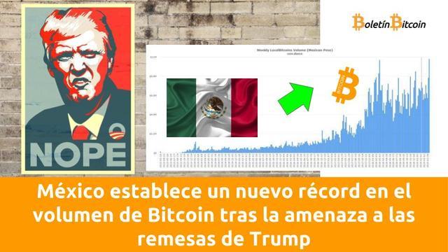 Nuevo récord de volumen de negocio en LocalBitcoins México tras la amenaza de Trump de prohibir las remesas de divisas