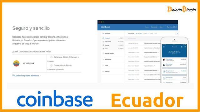 Coinbase Ecuador Opiniones 2019