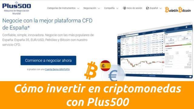 Cómo invertir en criptomonedas con Plus500