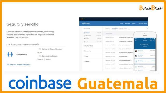 Coinbase Guatemala, qué es, cómo funciona y opiniones 2019