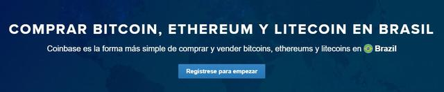 Coinbase ya permite crear cuentas desde Brasil