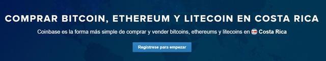 Coinbase Costa Rica abrir cuenta