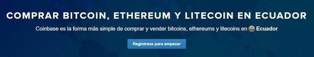 Comprar bitcoins en Ecuador en Coinbase