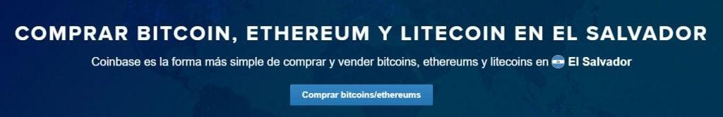 Cómo comprar bitcoins, ethers y litecoins en Coinbase El Salvador
