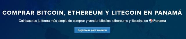Comprar bitcoins, ethers y litecoins en Coinbase Panamá