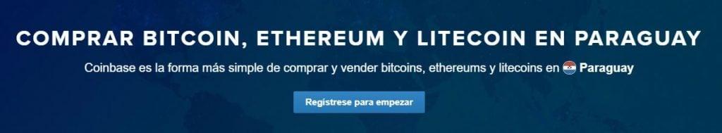 Cómo comprar bitcoins, ethers y litecoins en Coinbase Paraguay