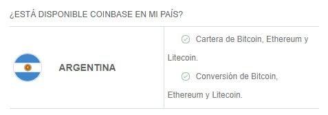criptomonedas y servicios disponibles en coinbase en argentina