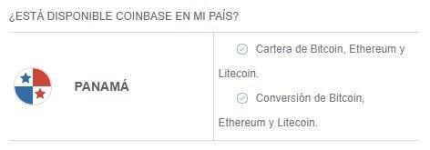 Criptomonedas y servicios disponibles en Coinbase en Panamá