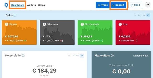Deposita euros con Skrill en tu cuenta de Bitpanda