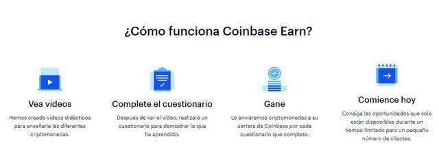qué es y cómo funciona coinbase earn