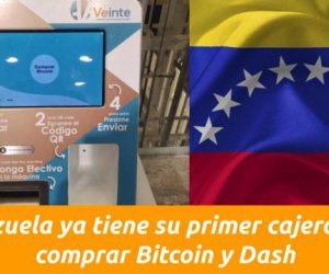 Venezuela, Caracas, primer cajero automático Bitcoin y Dash