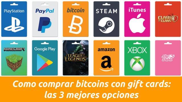 como comprar bitcoins con gift cards