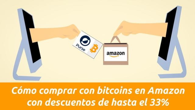 como comprar con bitcoins en Amazon con purse.io