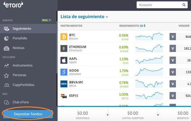 comprar ethereum con PayPal en eToro