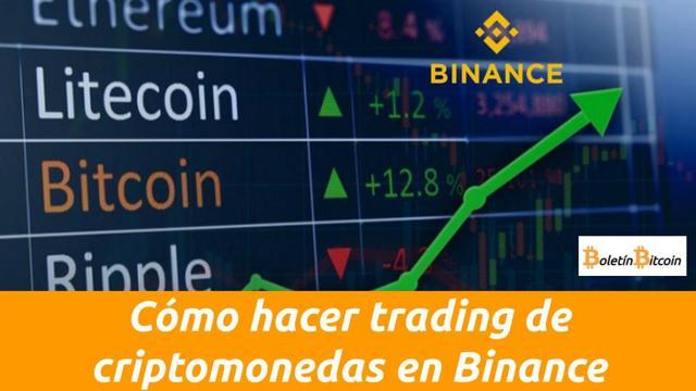 como hacer trading de criptomonedas en binance
