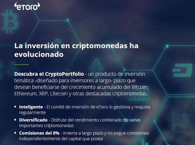 comprar bitcoins en etoro a través del CryptoPortfolio