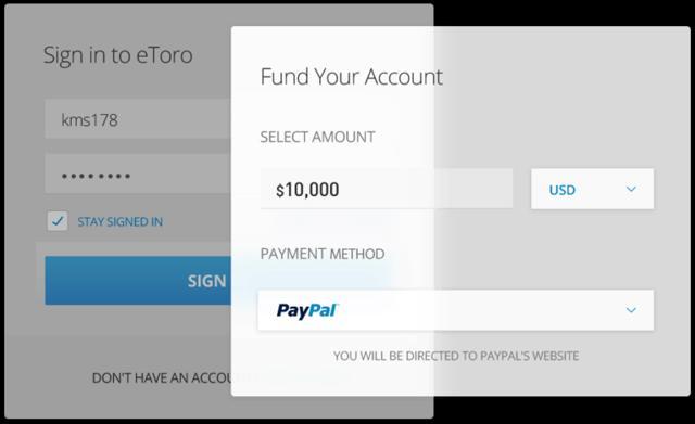 comprar ETH con PayPal en eToro