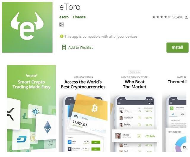 etoro app movil para android