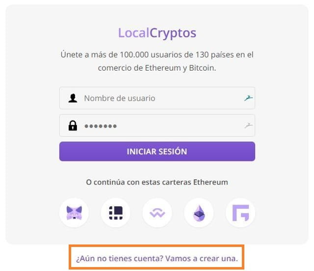 comprar bitcoins sin verificación de identidad en localcryptos