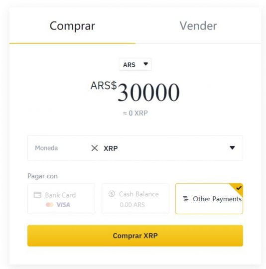 comprar xrp con tarjeta en binance con pesos chilenos
