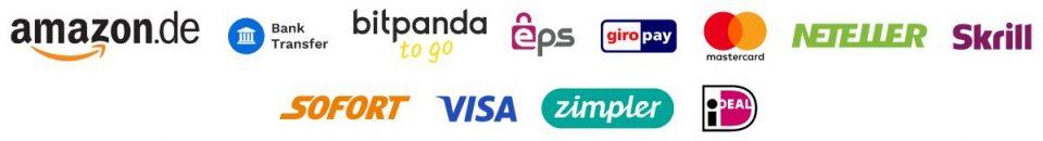 medios de pago aceptados en bitpanda